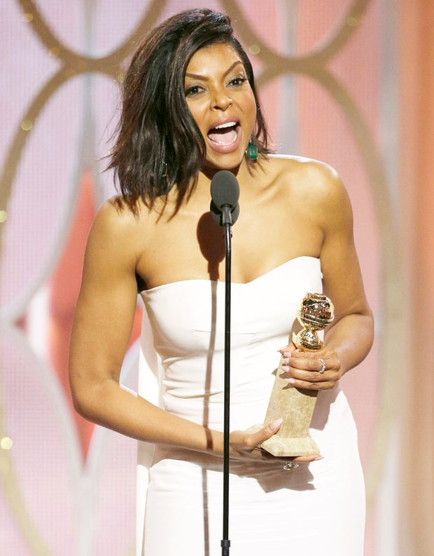 Taraji P. Henson delivering her speech after winning Best Lead Actress in a Drama Series