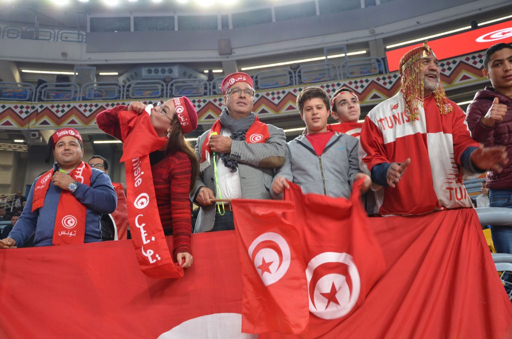 The Tunisian Fans in Full Force.