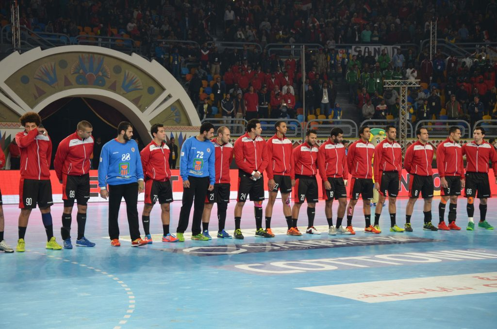 The Egyptian handball team.