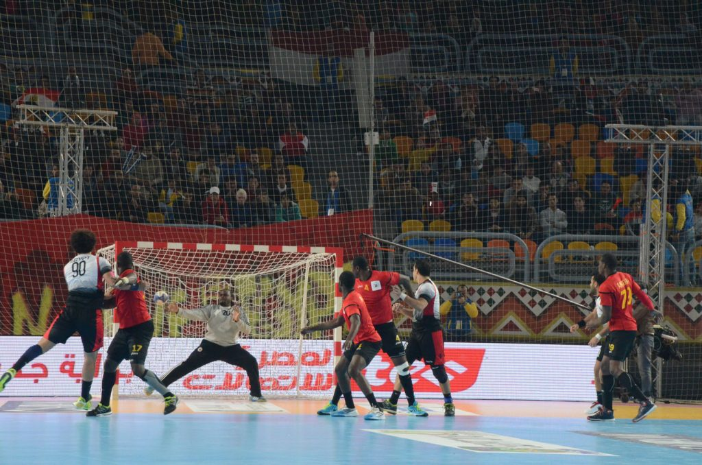 The hard-fought final between Egypt (white) and Tunisia.