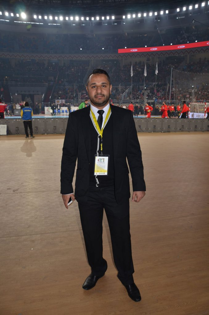 Mr. Osama Amin, a member of the tournament's organization team.