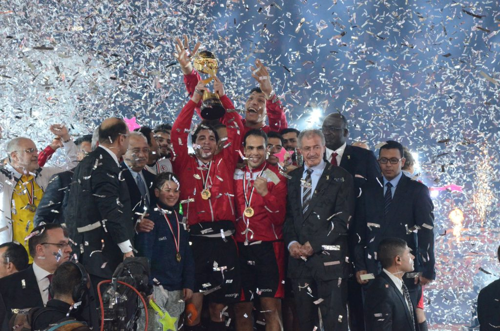 The Egyptian handball team winning their 6th African title in the competition's 22nd edition.